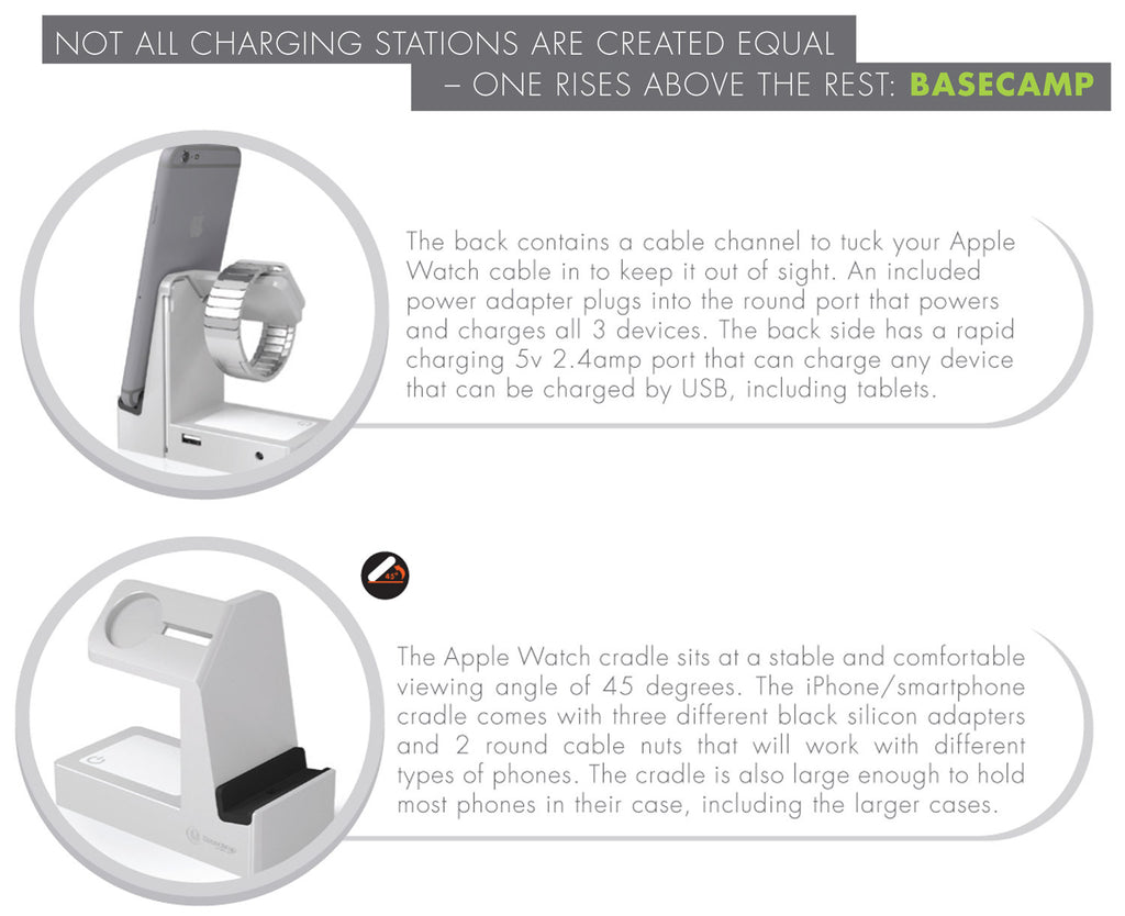 Basecamp Apple Watch Charging Station