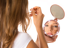 Reflections To Go Portable Cordless Makeup Mirror with Lights, 1X and 5X Magnifying Folding Mirror