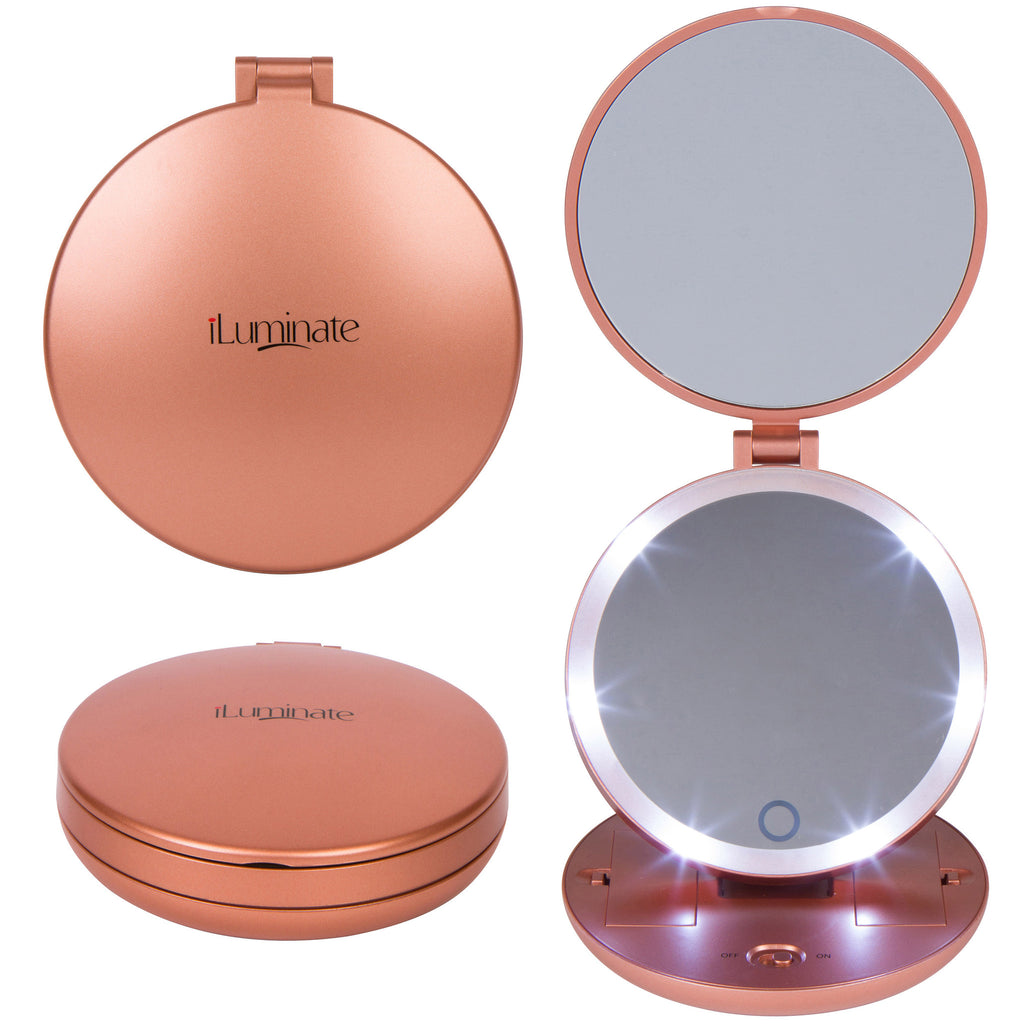 Magnifying mirror with light gena round illuminated for Beauty mirror