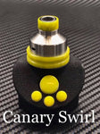 BMM Lathe Turned Accessories - Canary Swirl