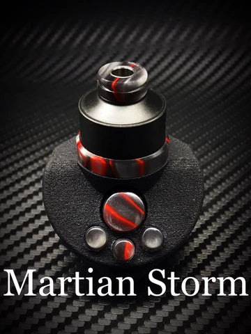 BMM Lathe Turned Accessories - Martian Storm (Silver Gray Red)