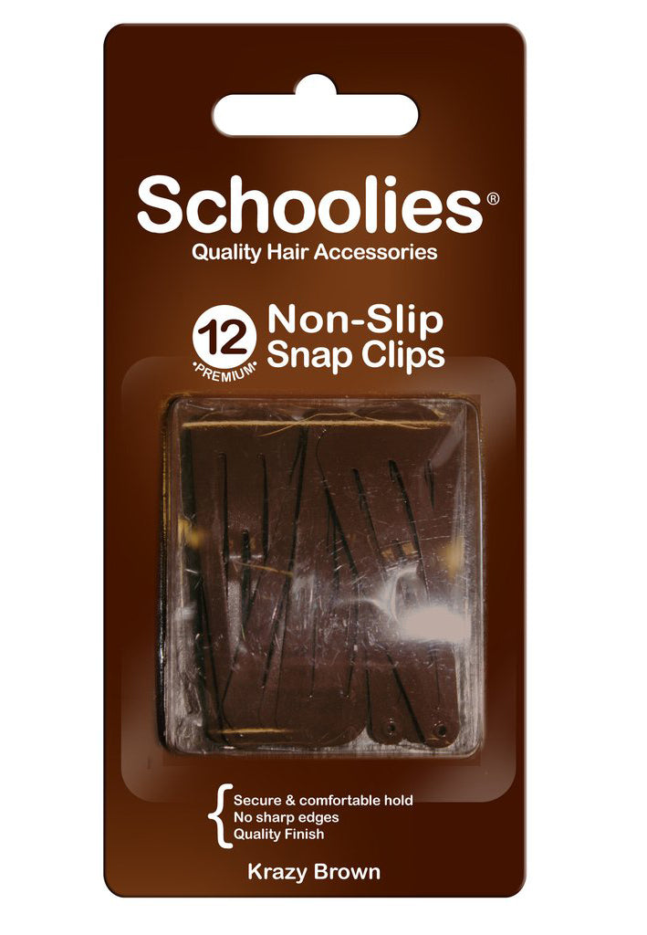 Schoolies Snap Clips 12pc - Krazy Brown