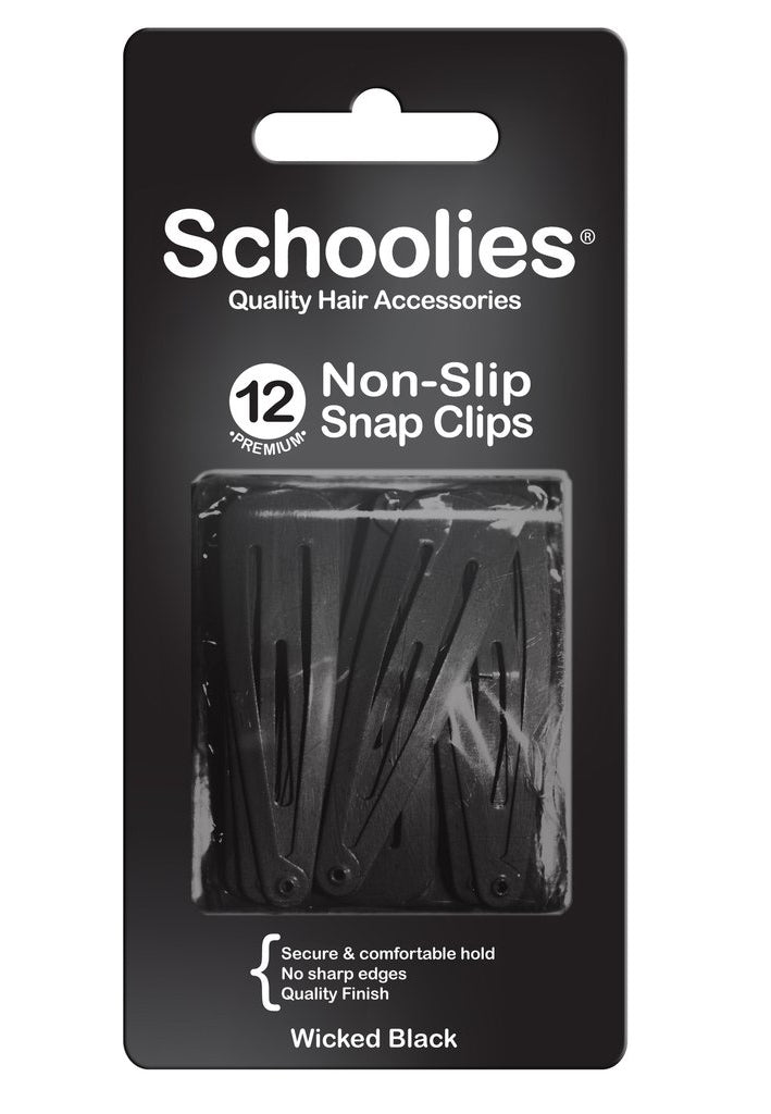 Schoolies Snap Clips 12pc - Wicked Black