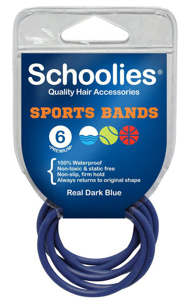 Schoolies Sports Bands 6pc - Real Dark Blue