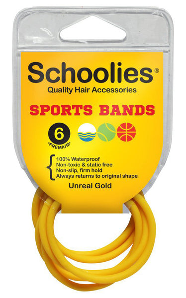 Schoolies Sports Bands 6pc - Unreal Gold