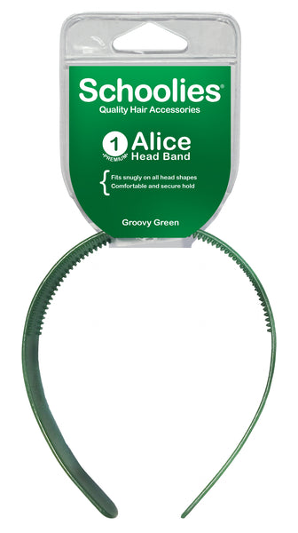 Schoolies Alice Head Band - Groovy Green