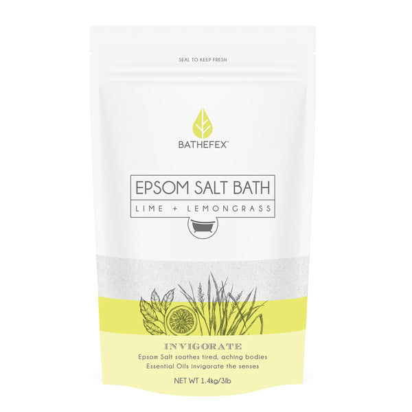 Bathefex Epsom Salt - Lime + Lemongrass 1.4kg