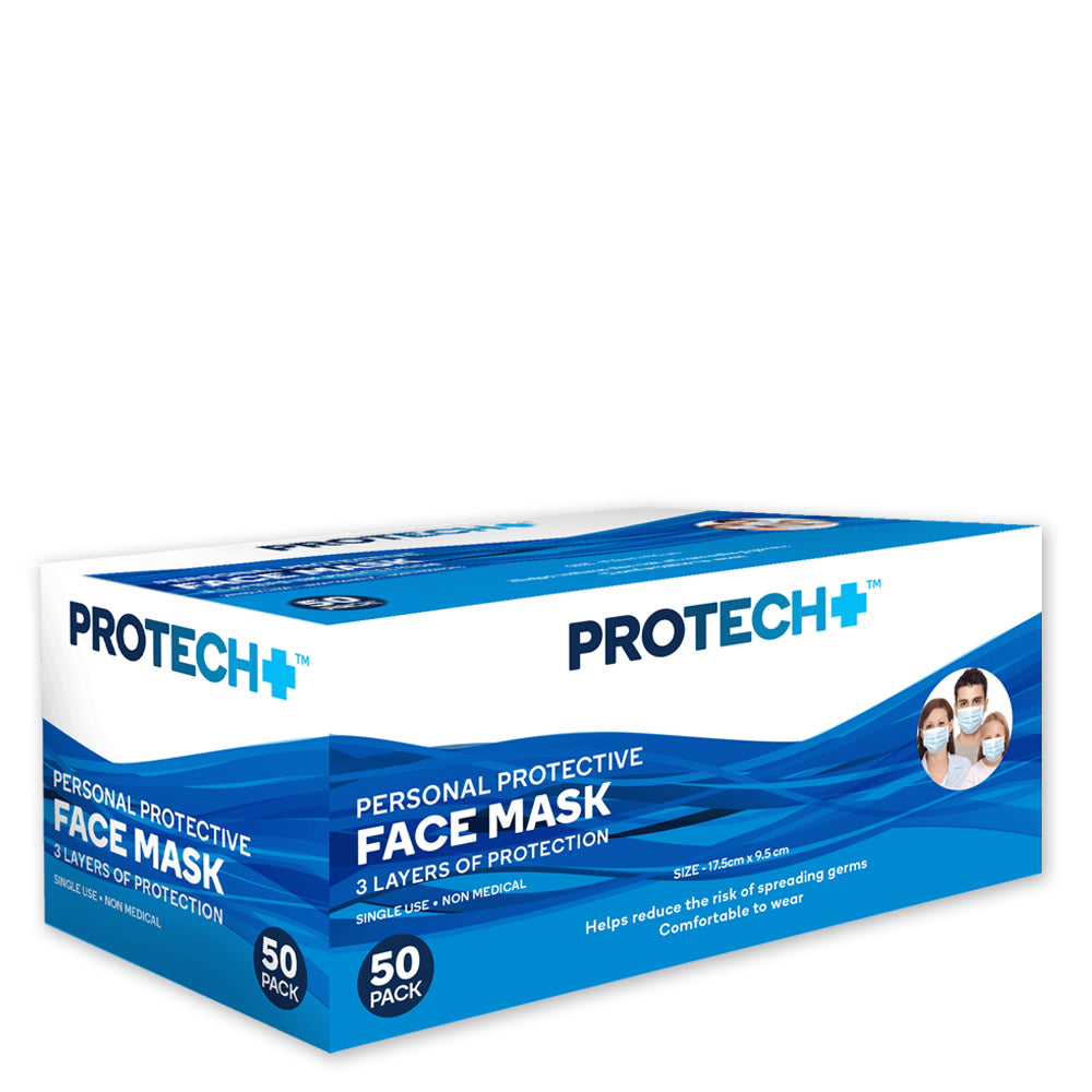 Protech Disposable Face Mask - 50 pack