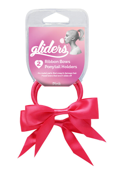 Gliders Twin Bows 2pc - Pink