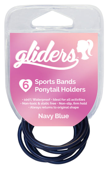 Gliders Non-Slip Sports Bands 6pc - Navy Blue