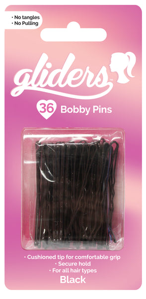 Gliders Bobby Pins 36pc - Black