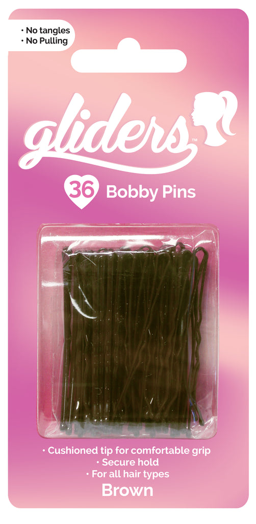 Gliders Bobby Pins 36pc - Brown
