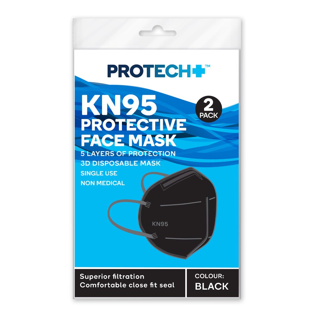 Protech KN95 Protective Face Mask Black