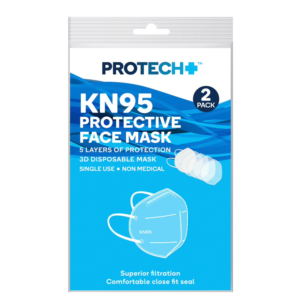 Protech KN95 Protective Face Mask White