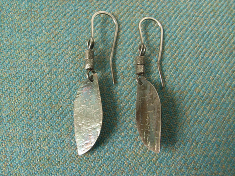 Rustic Gnarled Silver Dangle Earrings | Handmade in Scotland – Jewellery by Callum Kilts