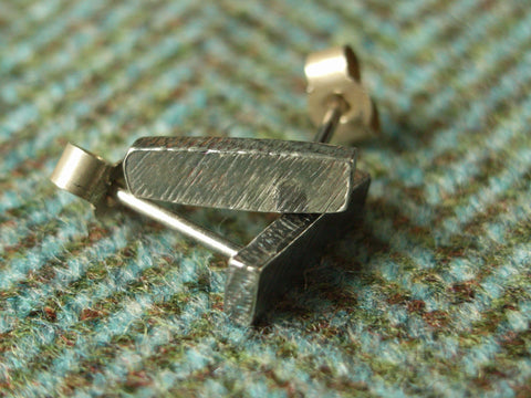 Rough Silver Ingot Stud Earrings - Medium | Handmade in Scotland – Jewellery by Callum Kilts