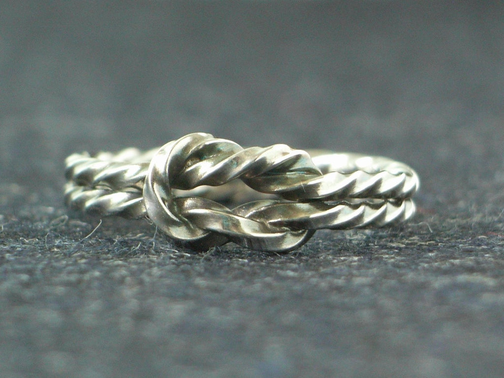 Twisted Love Knot Silver Ring | Handmade in Scotland – Jewellery by Callum Kilts