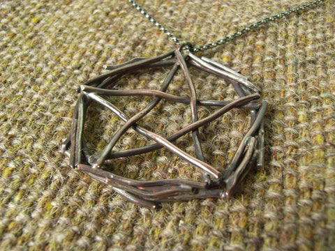 Copper Pentagram Pendant - Stick-like Effect