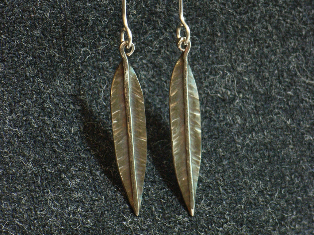 "Sterling Silver ""Feather"" Earrings 
