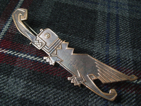 """Dragon"" - Scottish Kilt Pin in Bronze"