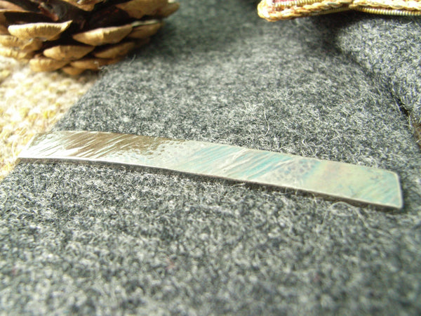 Colourful Hammered Silver Tie Bar