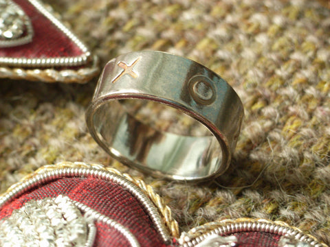 """Hugs & Kisses"" Silver Ring"