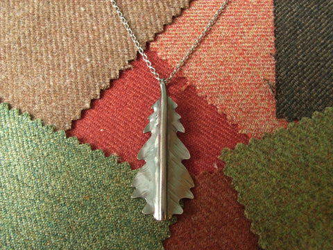 """Autumn Leaf"" Copper Pendant - ""Oak"" 