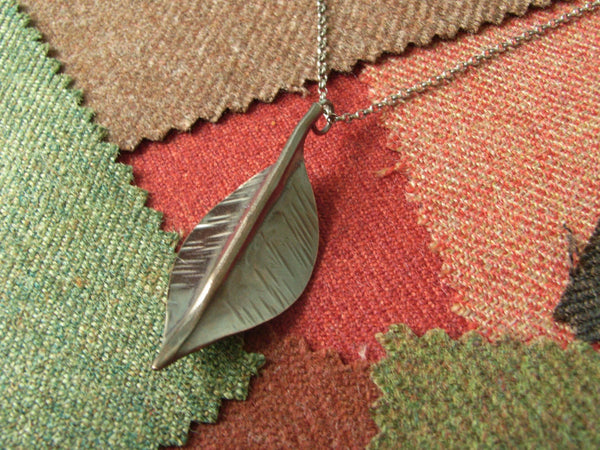 """Autumn Leaf"" Copper Pendant - ""Ash"" 