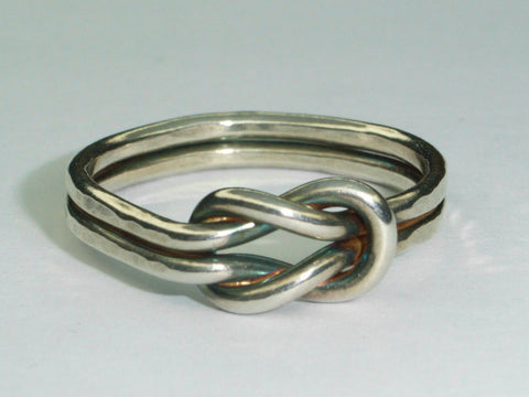 Love Knot Silver Ring | Handmade in Scotland – Jewellery by Callum Kilts