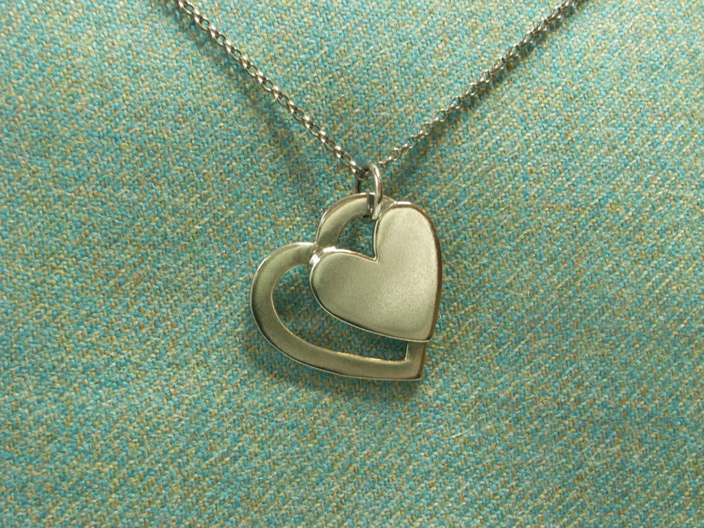 """Heart to Heart"" Silver Pendant 