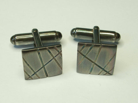 """Organised Chaos"" Silver Cufflinks 