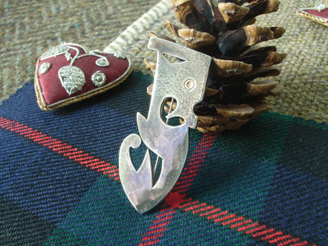 """Kelpie"" - Scottish Kilt Pin / Brooch in Sterling Silver"