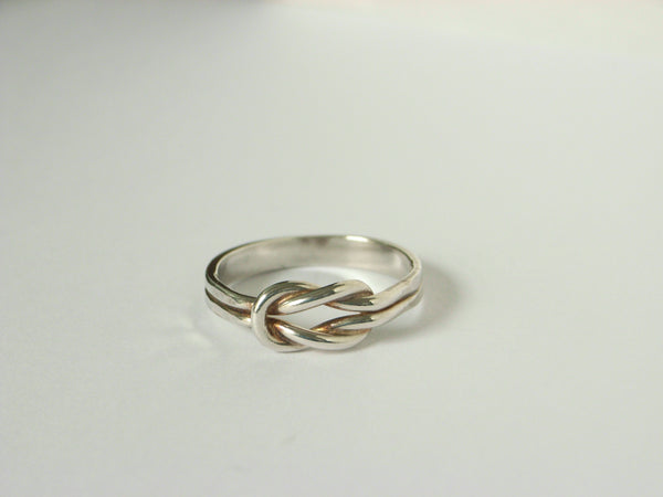 Engravable Silver Love Knot Ring