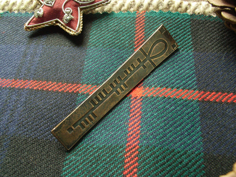 """Ogham"" - Scottish Kilt Pin in Bronze"