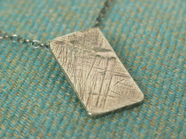 """Rough 'n' Ready"" Sterling Silver Pendant"