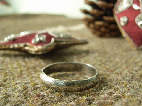 Rough n Ready Textured Silver Ring | Handmade in Scotland – Jewellery by Callum Kilts