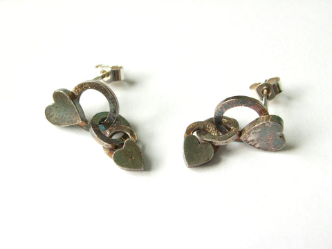 "Rustic Silver ""Heart"" Earrings"