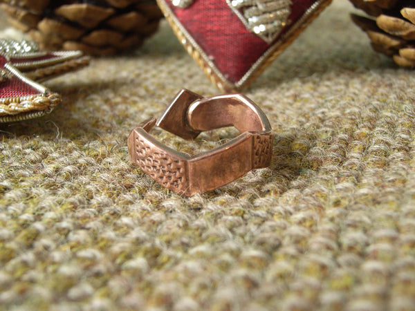 Serpent / Snake Ring in Copper