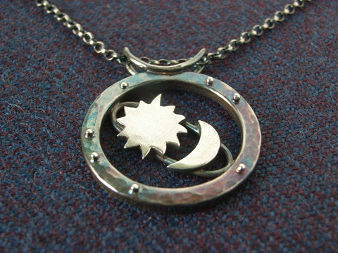 "Sterling Silver ""Cosmos"" Pendant"