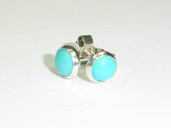 Turquoise & Sterling Silver Stud Earrings
