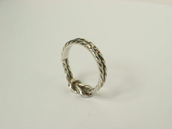 Enravable Twisted Love Knot Silver Ring