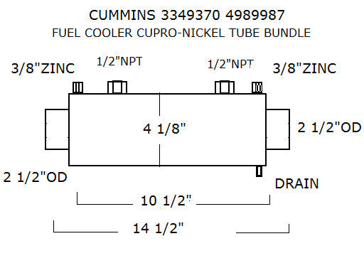 4989987 CUMMINS FUEL COOLER | LE: 4989987 - Lenco Coolers