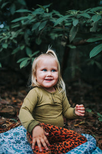 OTTO LONG SLEEVE BODYSUIT || Forest