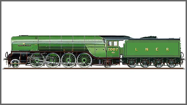 """Hornby R3983 Class P2 2-8-2 2007 """"Prince of Wales"""" in LNER green - Era 11"""
