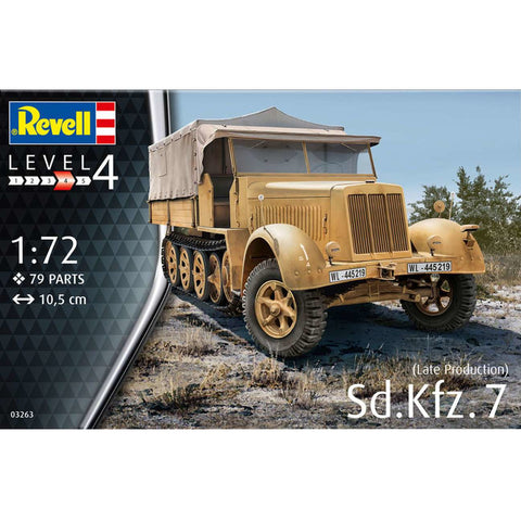 REVELL 1/72 Sd. Kfz. 7 (Late Production)