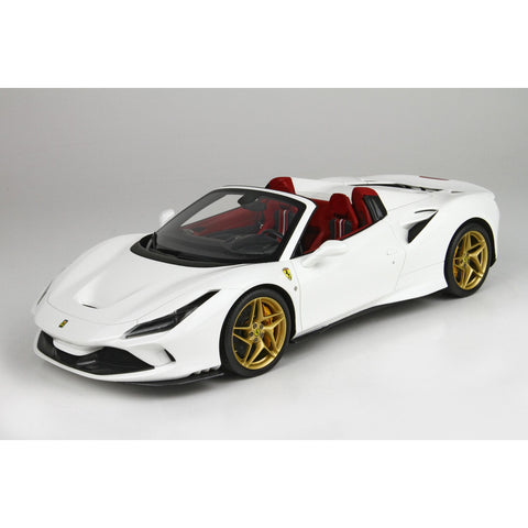 BBR 1:18 Ferrari F8 Tribute Spider White Red Int