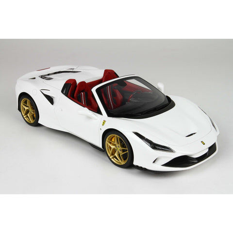 Image of BBR 1:18 Ferrari F8 Tribute Spider White Red Int