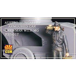 COPPER STATE MODELS 1/35 Austro-Hungarian Armoured Car Crew Man with MG