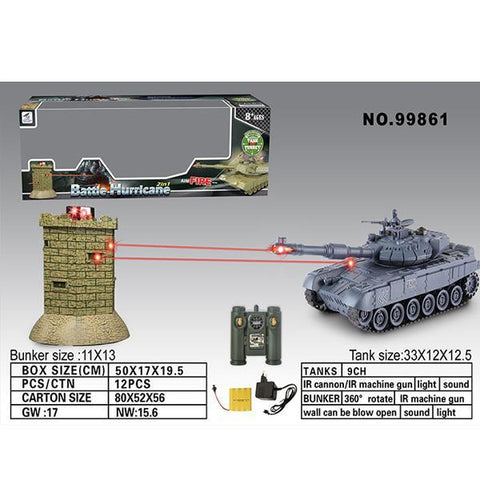 Zegan Russian T90 Vs Bunker R/C 1/16th