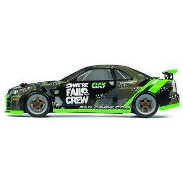 Image of HPI 1/18 Micro RS4 Drift Fail Crew Nissan Skyline R34 GT-R